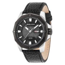 Police PL.15327JSTB/02 Men Black Dial Black Leather Watch [PL.15327JSTB/02]