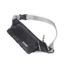 [LESHP] New Unisex Pocket Sling Bag Sports Running Travel Security Waist Bum Bags black
