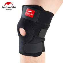 NatureHike Knee Pads Hole Sports Kneepad Safety Guard Strap Black