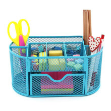 JDWonderfulHouse Honana HN-B26 Mesh Desk Organizer Oval Desktop Storage Box Pencil Stationary Holder