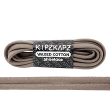 KIPZKAPZ WS31 Waxed Cotton Flat Shoelace - Dark Beige [6mm]