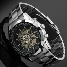 WINNER Bussiness Genuine All-hollow Men Automatic Mechanical Watch