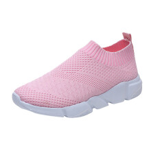 BESSKY Women Outdoor Mesh Shoes Casual Slip On Comfortable Soles Running Sports Shoes_