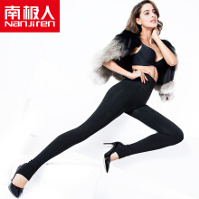 NANJIREN pants socks autumn and winter high waist plus velvet thick seamless one foot wear pants inside and outside wear women was thin warm cotton trousers trousers NYZ9219A gray all