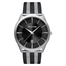 Police Patriot PL.15305JS/02TBMM Men Black Dial Dual Color Stainless Steel Watch [PL.15305JS/02TBMM]