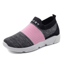 Zanzea Breathable Mesh Splicing Running Sport Shoes For Women Black 38