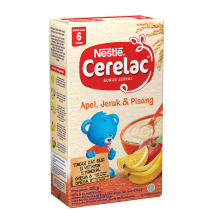 NESTLE Cerelac Apel, Jeruk & Pisang Box - 120gr