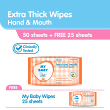 MY BABY Baby Wipes Hand & Mouth - 50s