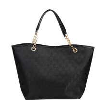 [LESHP]PU Leather Lady Handbag Women Shoulder Bag Tassel Female Satchel Black