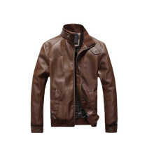 SiYing Korean version of the slim locomotive men's leather jacket