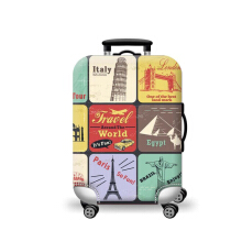 Homestuff Corner Sarung Cover Pelindung Koper Elastis / Luggage Cover Ukuran M 22-24 Travel Landmark