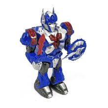 Kaptenstore Robot Mainan Robot War Universe Warrior Transformer Optimus Prime Blue