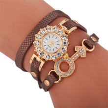 Fashionmall Quartz Female Rhinestone Decoration Student Watch
