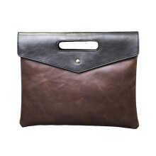 SiYing Imported original fashion men's bag wild men's clutch bag strap bag Brown