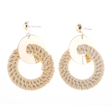 VOITTO Earrings - M1 Rattan Rattan