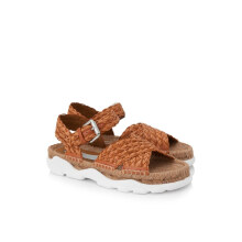 Stella McCartney Weaved Leather Espadrille Sandals