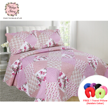 VINTAGE STORY Shabby Bed Cover Set Korea Size King 220x240 cm/P13