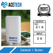 UniqueShop - Powerbank - Powerbank 20000mAh - Power bank 20000mAh - Acetech - Putih
