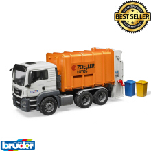 Bruder Toys 3762 - MAN TGS Rear Loading Garbage Truck (orange)