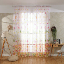 [COZIME] Butterflies Voile Curtains Divider Window Curtain Sheer Romantic Curtains Multicolor1