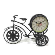 Toko Sinyo - Vintage Retro Metal Bicycle Two Sided Table Clock Decoration
