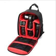 Jantens Waterproof Digital DSLR Camera Backpack Photo Padded Backpack w/ Rain Cover Multi-functional SLR