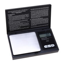 Jantens  Scale 300g x 0.01g 500g x 0.1g LED Luminous Pocket Electronic Scale Black 500g/0.1g