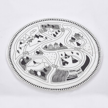 Jantens 97CM Baby Round Carpet Game Pad Kids Playmats Baby Crawling Blanket Gym Play Mat White