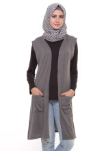 Mybamus Plain Pocket Outer Dark Misty Gray M7018 R2S1 Grey One Size