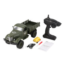 COZIME JJR/C Q61 1/16 2.4G 4WD RC Off-Road Military Truck Transporter Car Toy Green
