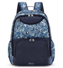 Sakroots Nylon Madison Backpack Blue Steel Spirit Desert
