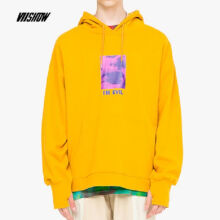 Ins V-421 Trendy brand new Korean version of the autumn and winter hooded jacket female Hip hop jacket-Yellow S