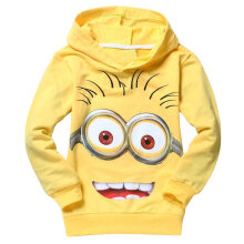 Kids Hooded Sweatshirt Cartoon Print Pullover Hoodies Long Sleeve Cute Cartoon 110cm