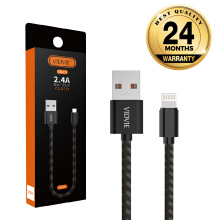 VIDVIE Iphone USB Cable CB441 / Kabel Data / Fast Charging Black Frame with Grey