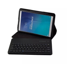 Samsung Galaxy Tab E 9.6 inch T560 T561 Bluetooth Keyboard 2 in 1 Removable Wireless Optical Ultra Thin Leather Case Black