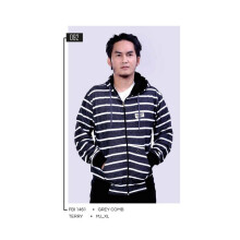 G-SHOP - MEN SWEATER JAKET HOODIES DISTRO PRIA - FBI 1461 - ABU SIZE- M