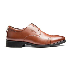 AOKANG 2018 new arrival spring&autumn men shoes soft Genuine leather fashion shoes business shoes brown
