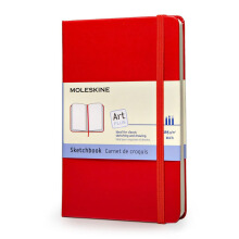 MOLESKINE Sketch Book - Red - Pocket - QP014RF