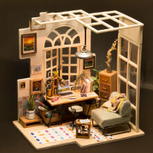 Jantens Assemble Diy Doll House Toy Wooden Miniatura Doll Houses Miniature Dollhouse Toys With Furniture Led Lights Photo Color