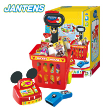 Jantens Disney Mini Shopping Cart Supermarket Cart Simulation Toys for Children DS-1891 Baby Stroller Photo Color