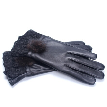 SiYing Fashion Sheepskin Winter Lady Full Touch Drive Motorcycle Gloves