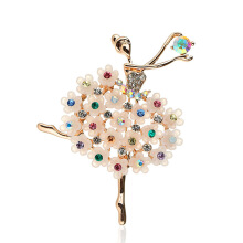 Jantens 2018 New Fashion Charm Girl Grace Alloy Brooch Ballerina Dance Girl Brooch Women Jewelry Gift