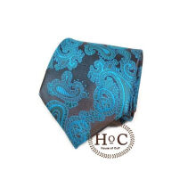 Houseofcuff Dasi Neck Tie Motif Wedding Best Man BLUE BLACK PAISLEY BATIK TIE Blue