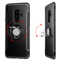 RockWolf Samsung Galaxy S9 plus case TPU metal ring magnetic mobile phone holder