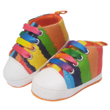 Saneoo Sneakers Prewalker Baby Shoes Rainbow 3-6 bulan