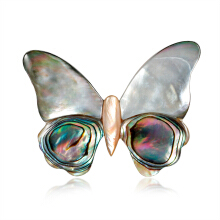 Jantens 2018 Shell Pins and Brooches For Women Brooch Pins for Scarf Butterfly Animal Brooch Silver