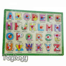 Toylogy - Puzzle Kayu Edukasi Pin Abjad Wooden Toy Puzzle Education