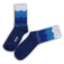 PIERO SOCK GRADIENT QUARTER - RAINBOW/BLUE Multicolor One Size