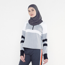 CoreNation Active Aluna Hijab Sport - Abu tua Grey S