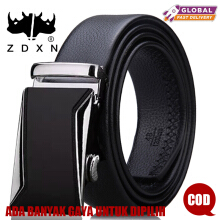 ZDXN Sifang car silver automatic buckle belt - Black(120cm)